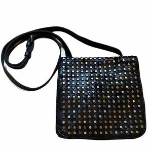 PATRICIA NASH Black Studded Crossbody Handbag
